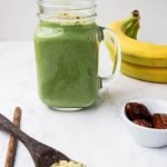 This picture illustrates the Green Lean Smoothie.