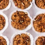 Healthy Carrot Cake Muffins placed next to each other