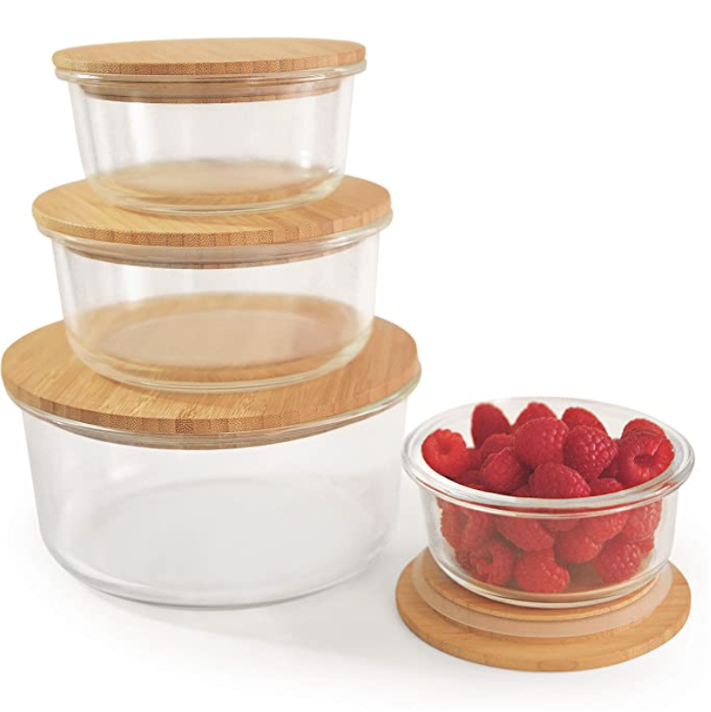Round Glass Storage Containers